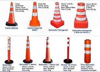 Sinalização de obras em rodovias