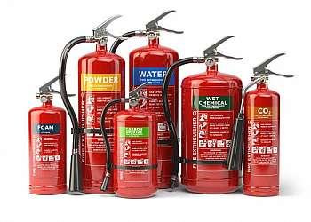 Placas de sinalização de extintores de incêndio