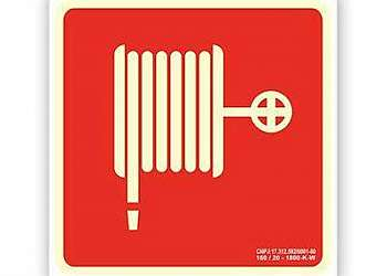 Placa mangueira de hidrante