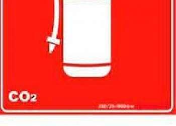Placa de sinalização de extintores fotoluminescente