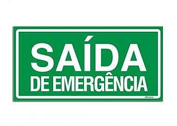 Placas de sinalização de saída de emergência
