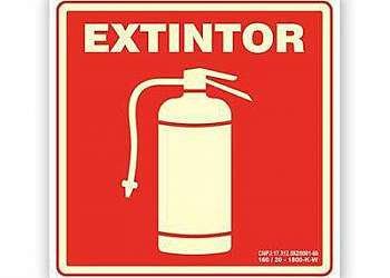 Sinalização de hidrantes e extintores