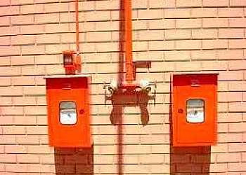 Sinalização de solo para extintores e hidrantes